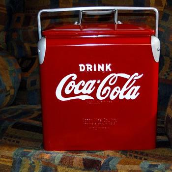 Antique Coca-Cola Picnic Cooler