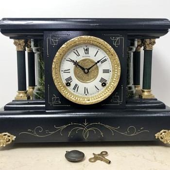 RESTORED Original Antique Sessions USA Mantel Clock - Clocks