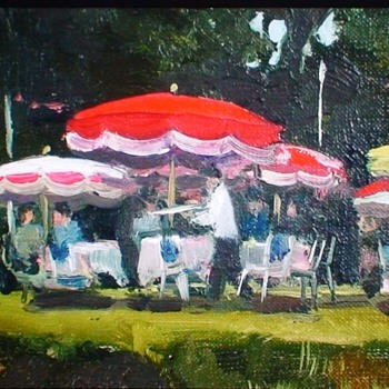 """Restaurant Near Angoulême"" By Henry (Harry) Robertson Craig (1916-1984) - Fine Art"