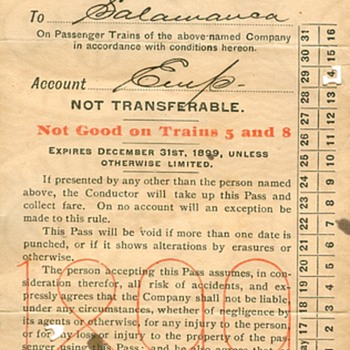 1899 Erie Railroad Ticket - Railroadiana