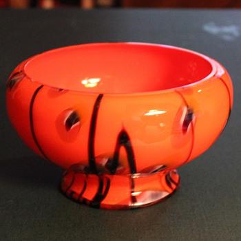 Large Orange Bowl - Art Glass