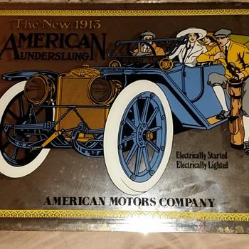 1913 Underslung mirror advertisement - Advertising