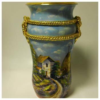 Italian Floor Vase, Circa 20 Century - Pottery