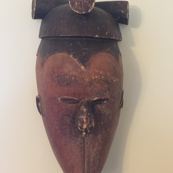 OLD WOOD CARVED MASK NoT Sure what Tribe????  Or How OLD - Fine Art