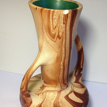 Drip Swirl Vase -any help with ID? - Pottery