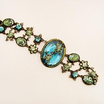 Vintage Frog Pond Bracelet - Costume Jewelry