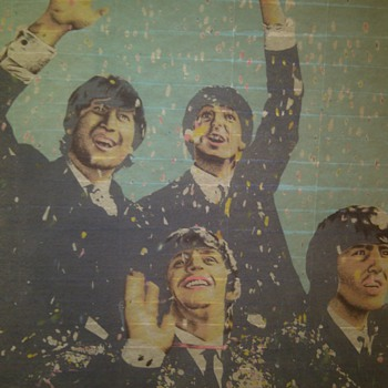 "Rare Beatles ""London 1964"" wall banner - Music Memorabilia"