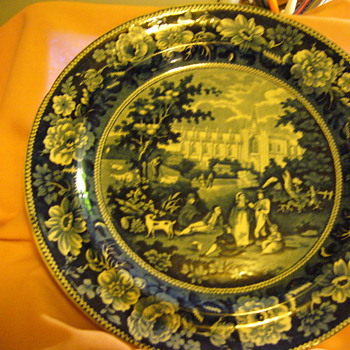Staffordshire plate - Pottery