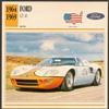 Vintage Car Card - Ford GT 40