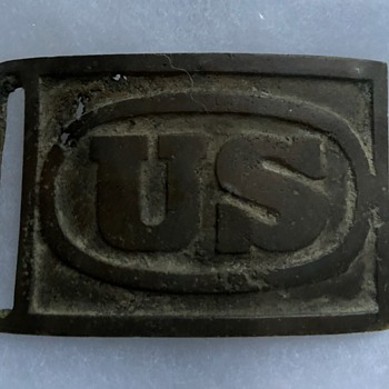 U.S. Military Belt Buckle, 1870's - Military and Wartime