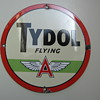 Old Flying A Tydol Gas Pump Sign