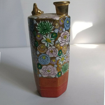 Kutani kiln sake flask - Asian