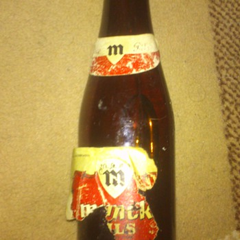 unopened 27 year old Belgian beer bottle