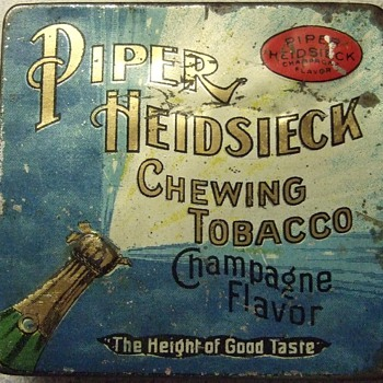Piper Heidsieck Chewing tobacco... Champagne Flavor??? - Advertising