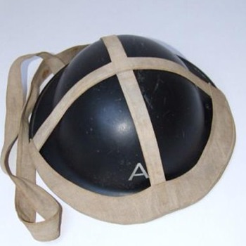 British WWII Civil Defence  steel helmet 1940s