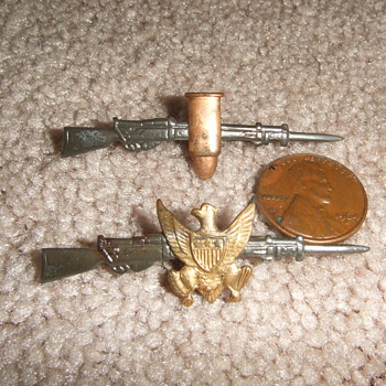 Early Military Sweetheart pins