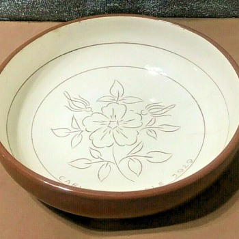 """Stangl Wild Rose Carvers' Sample (#3929) Vegetable Bowl  8""""    - China and Dinnerware"""