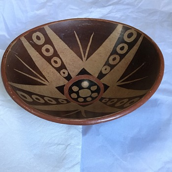 Unidentifiable pottery bowl - Native American