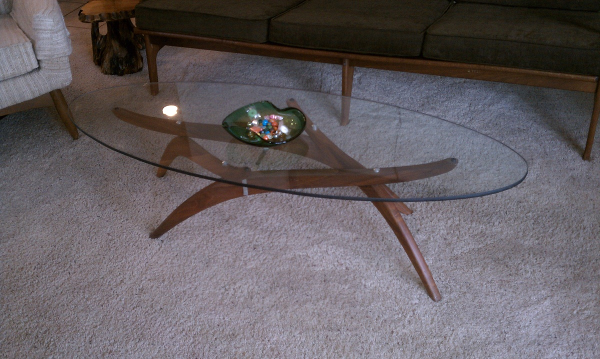 Perfect Mid Century Modern Teak Base Coffee Table With Adjustable Legs And Glass  Top | Collectors Weekly