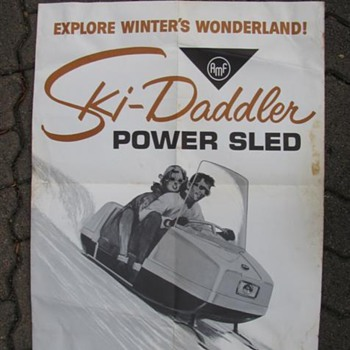 1960s Snowmobile Poster - Advertising