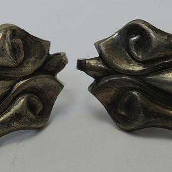 Sterling Screw-Back Earrings - Costume Jewelry