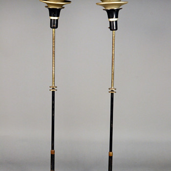 Antique and vintage floor lamps collectors weekly pair of art deco standing floor lamps american mozeypictures Gallery
