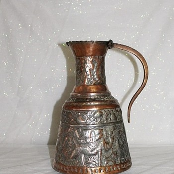 Copper & Brass Water Pitcher - Arts and Crafts