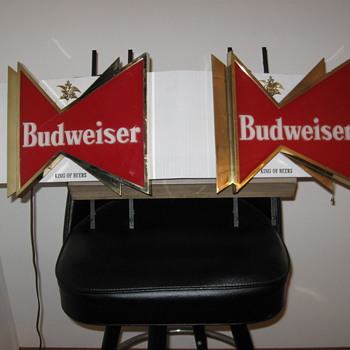 Double Budweiser BowTie Sign