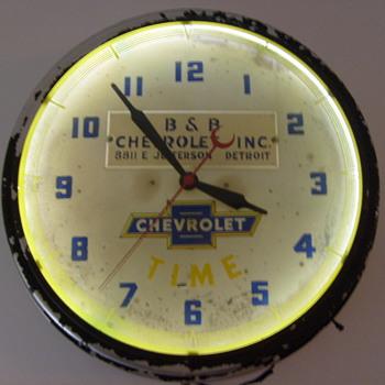 chevrolet dealer clock 1947