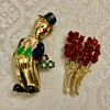 Cute clown brooch
