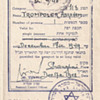1948 visa inside a passport - Shanghai