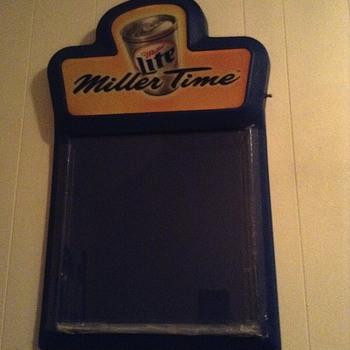 1999 miller lite (miller time) bar chalkboard