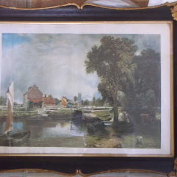 A Scenic Print - Lovely Country Scene - not sure who by??? - Fine Art