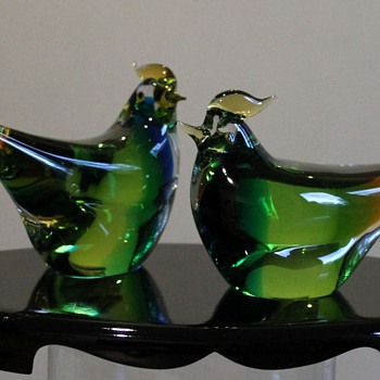 MARTI Glass Japan Birds - Art Glass