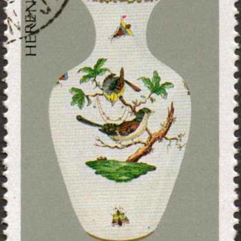 "Hungary - ""Herendi Porcelain"" Postage Stamp - Stamps"