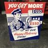 Esso gasoline and oil sign
