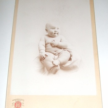 Cabinet card of chubby baby - Photographs