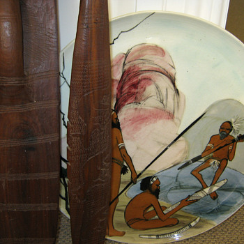 VINTAGE AUSTRALIAN SPEAR & SHIELD - Folk Art