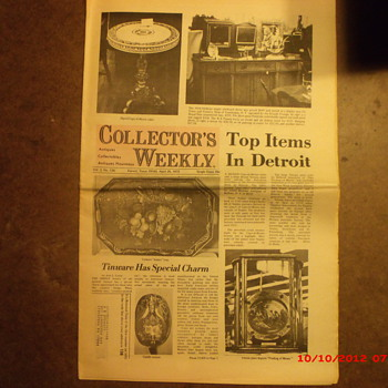 Collectors Weekly Newspaper from the week I was born. - Paper