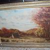 Frank Magleby's Landscape Painting (Oil on Board)