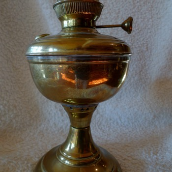 oil lantern with markings on top