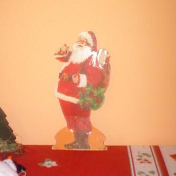 "12"" Cardboard Stand Up Santa Claus - Christmas"