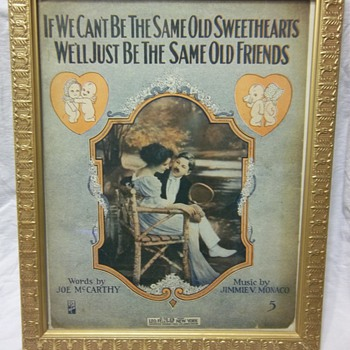 If We Can't Be The Same Old Sweethearts by Jimmie Monaco - Framed music book - Music Memorabilia