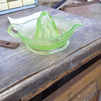 old press and pretty glass - Glassware