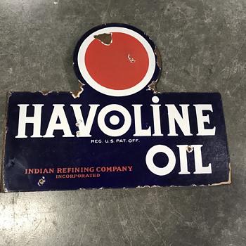 Havoline oil flange sign  - Petroliana