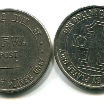 VFW Slot Tokens - Coin Operated