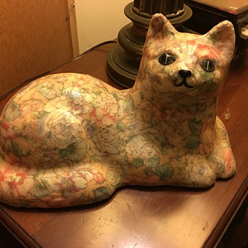 Ceramic cat colorful  - Animals
