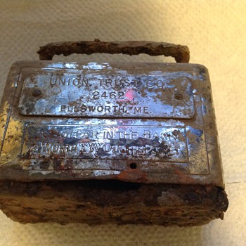 Union Trust Co.  Old pryed open bank...Metal Detecting Find