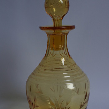 Stuart Amber Decanter - Art Glass