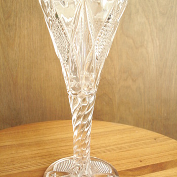 Tall Glass Star Vase - Glassware